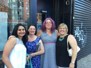 Kensington party with Sonali Dev, Terri-Lynne DeFino and Sharon Struth